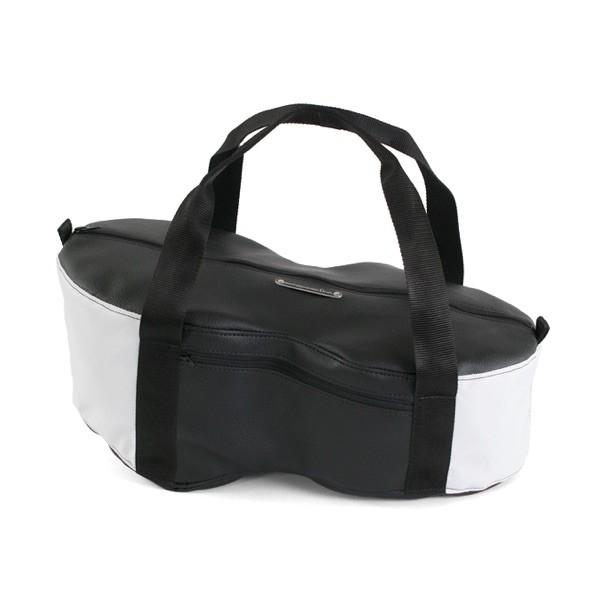 Helmfachtasche Classic - Weiß/Schwarz